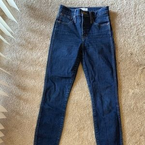 "Madewell 10"" High Rise Skinny in Lucille wash"